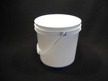 2 Gallon White Food Grade Plastic Pail