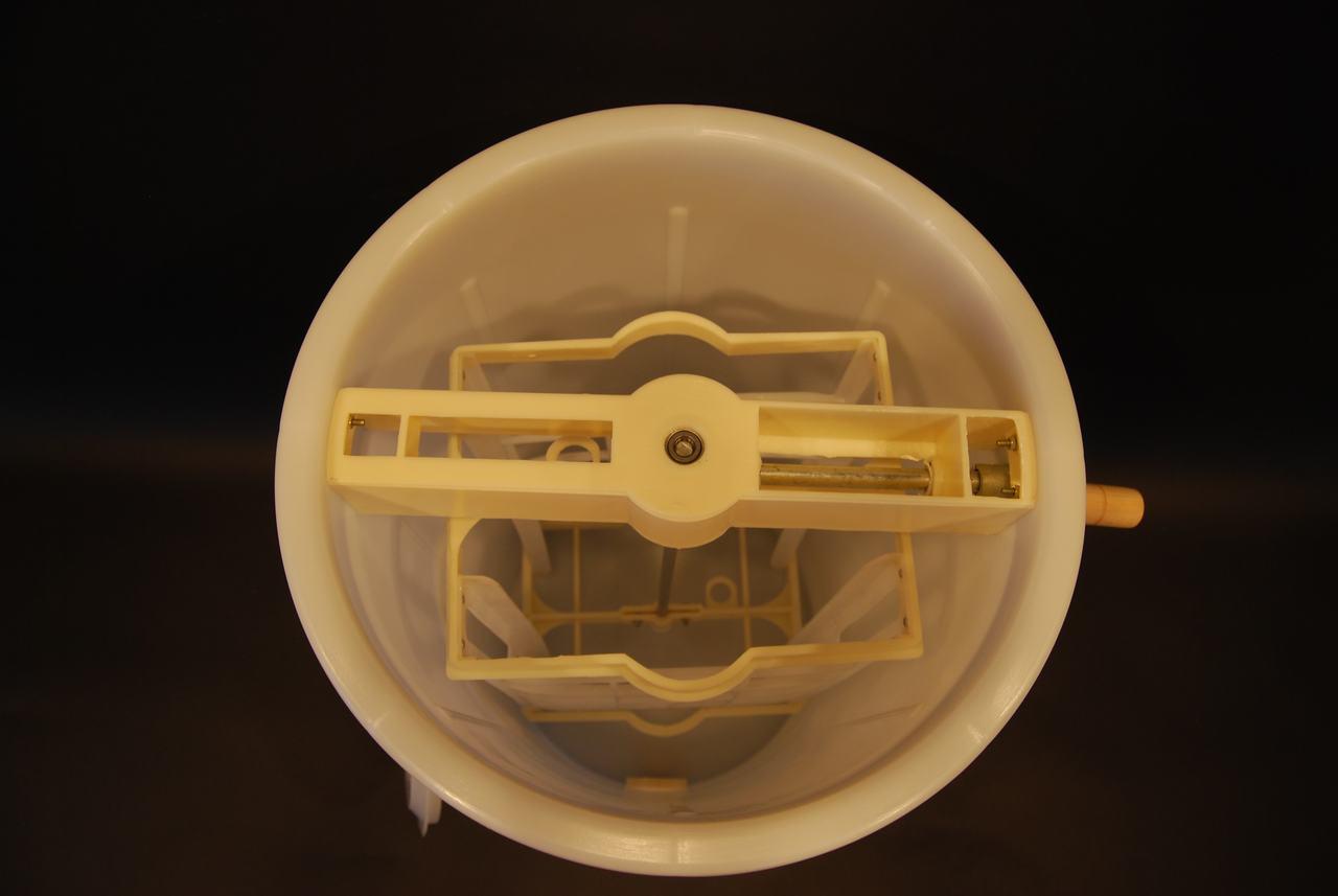 Inside 2 Frame Plastic Honey Extractor