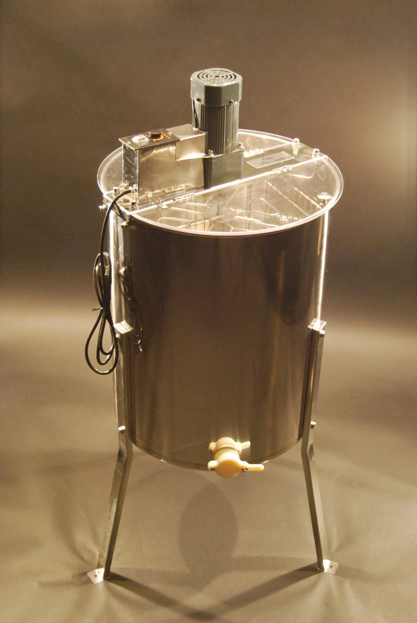 Inside Electric 8/4 Stainless Steel Honey Extractor