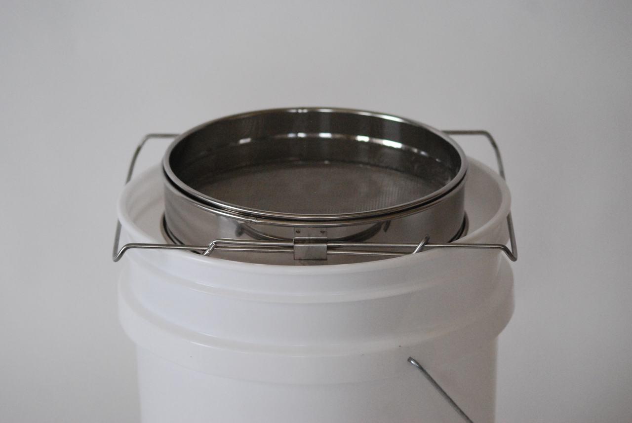Stainless Steel Double Sieve on bucket