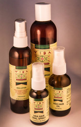Vida Hair Kit products (Lotion, Shampoo, Oral Spray and Oil).
