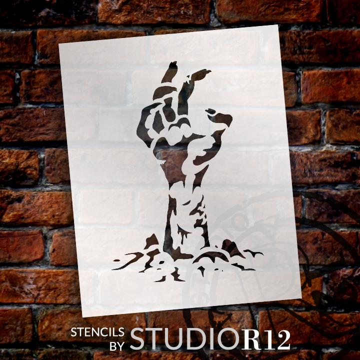 "Zombie Hand - Art Stencil - 5"" x 4"" - STCL1282_1 by StudioR12"