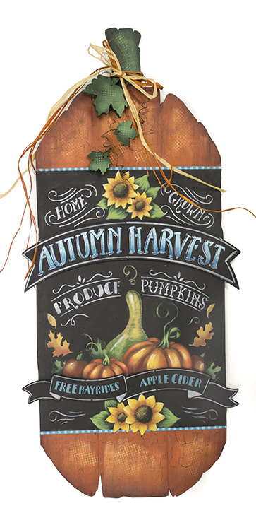 Harvest Sign On Barnwood For Fall Front Porch Decor: Autumn Harvest Sign DVD Deluxe Set