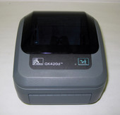 Zebra GK420d USB/Ser Monochrome Desktop Thermal Label Printer with 250 Labels