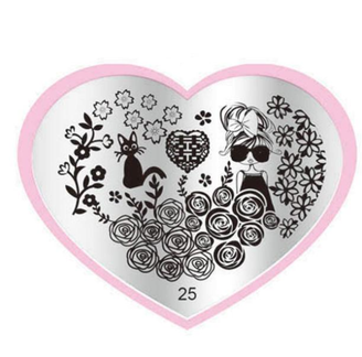 Cool Cat Stamping Plate - Heart 25