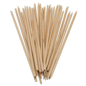 "7"" Long Cuticle Sticks - Pack of 6 - Birch Wood"