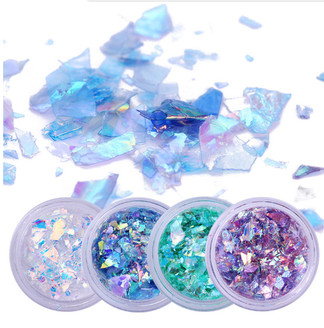 4pc. Set of Broken Glass Flakies