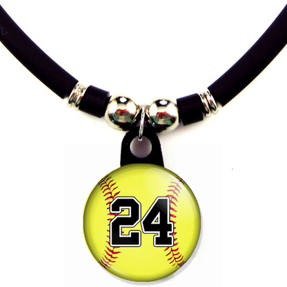 Personalized Softball necklace with your jersey number