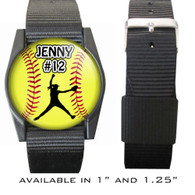 Personalized Softball Pitcher Bracelet/Wristband With Name and Number