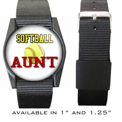 Softball Aunt Bracelet/Wristband