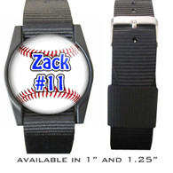 Personalized Baseball Bracelet/Wristband With Name and Number