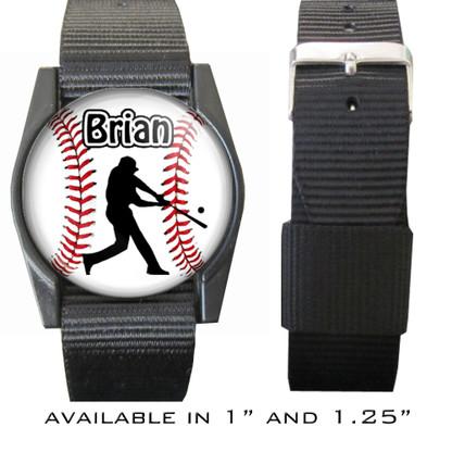 Personalized Baseball Batter Bracelet/Wristband With Name