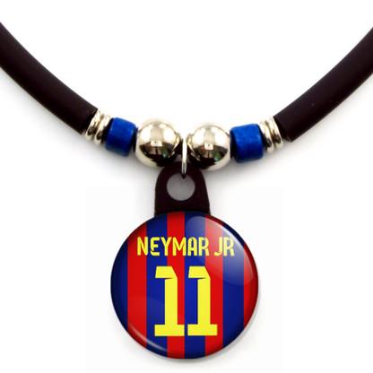 Neymar Jr. #11 Barcelona 2013-2014 Home Jersey Necklace