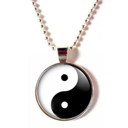 Glass Ying Yang Necklace