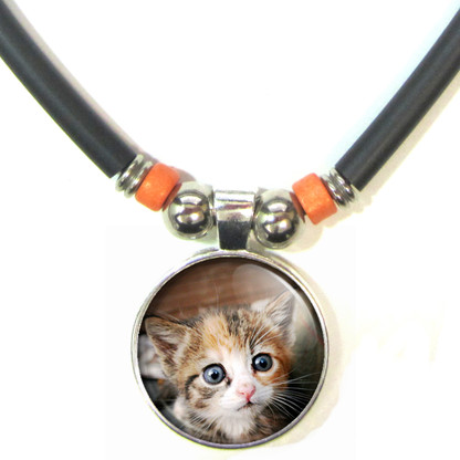 Personalized Cat 3D Glass Pendant Necklace With your Cat's Image