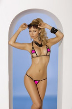 2 Piece Swimwear Set - One Size - Neon Pink
