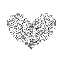 35 Swirl Heart : Love Collection : Fancy Print