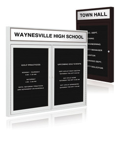 "S & R SPORT RECORD BOARD WITH 2 DOORS, 48"" X 60"""