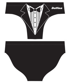 DELFINA MALE TUXEDO WATER POLO SUIT