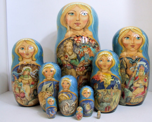 Pcs Russian Nesting Doll One Of A Kind Twelve Months By - Russian vikings