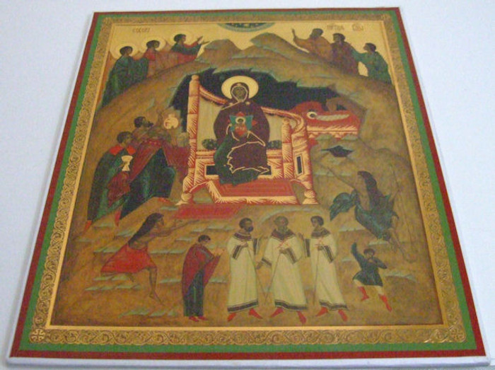 Russian Handmade Religous Icon The Nativity of Christ
