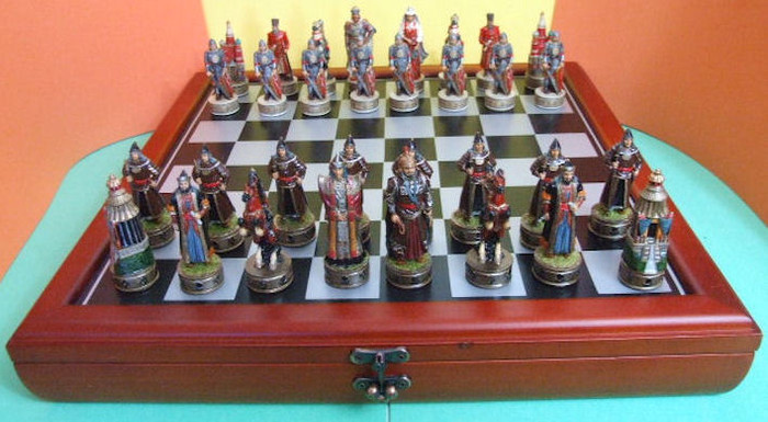 Handcrafted Russian Made Chess Set of Russian Mongols Complete 32 Pcs
