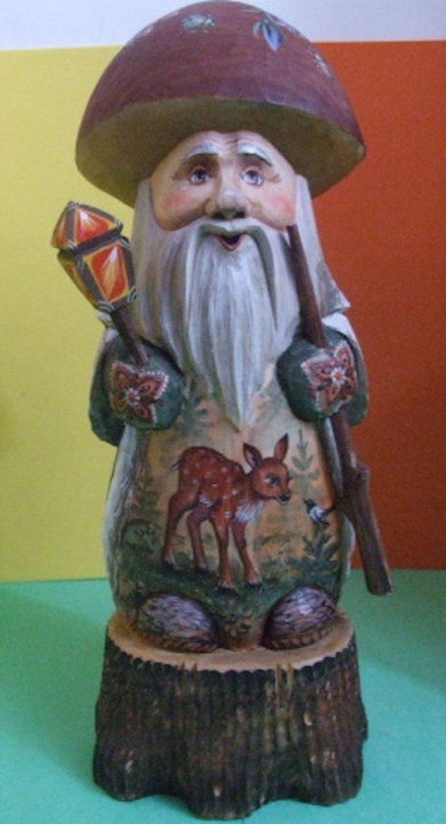 Russian Handcarved Gnome 1