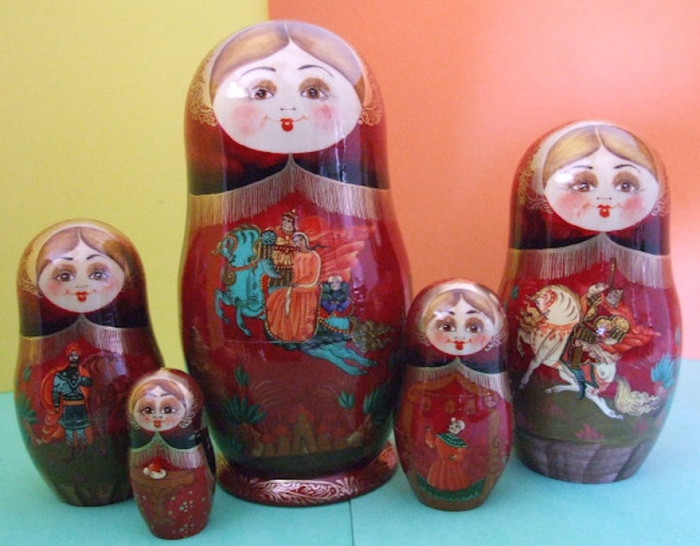 Russian folklore in 5 piece set