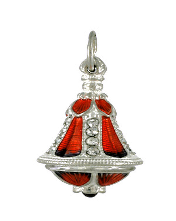 Silver Russian Handmade Faberge EGG PENDANT # PD-11-081 BELL SHAPE