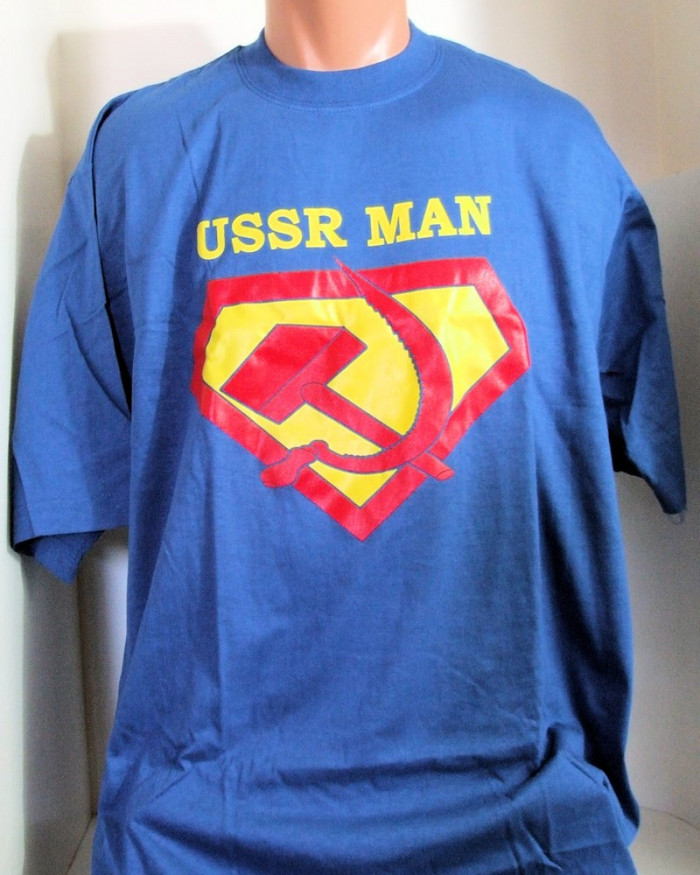 "Authentic Russian T-Shirt ""USSR Man"" Made in Russia"