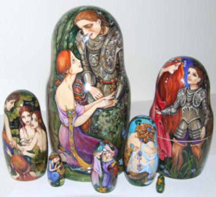 """Knight and Maidens"" by L. Labusova...7 piece"