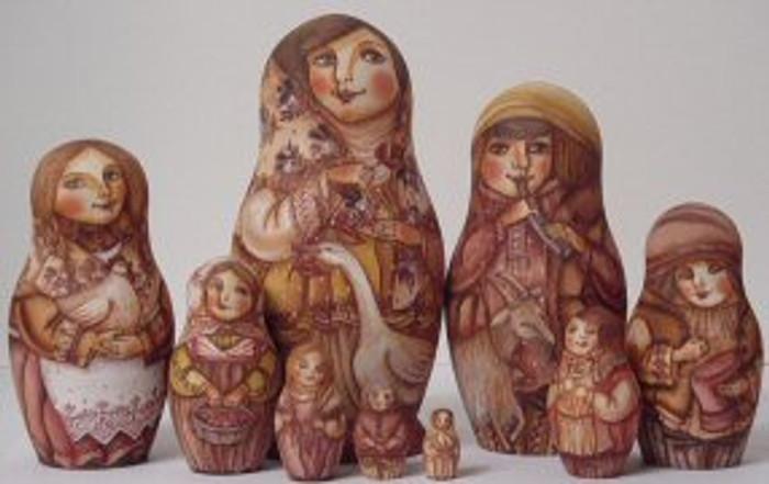 Nine Piece Nesting Doll by Zhukov