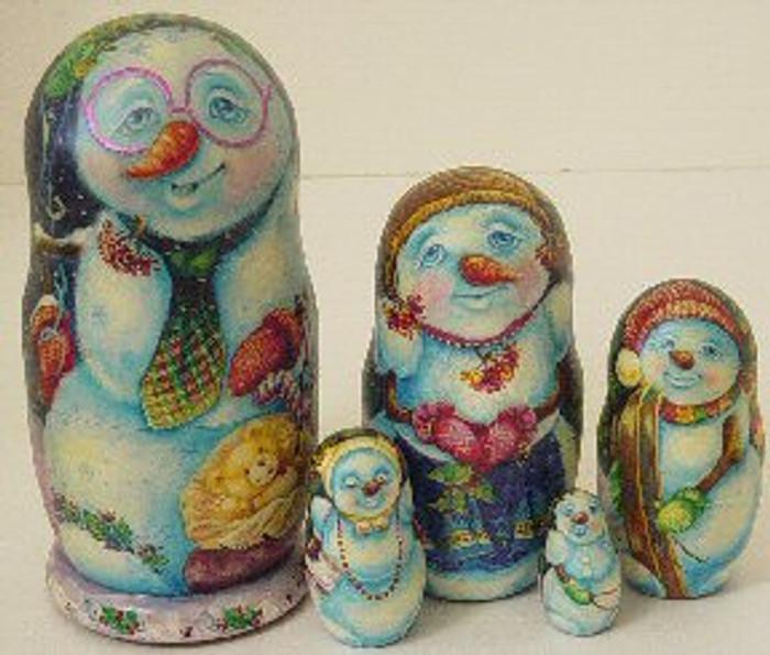 Snowman and Friends by Klovaskaya
