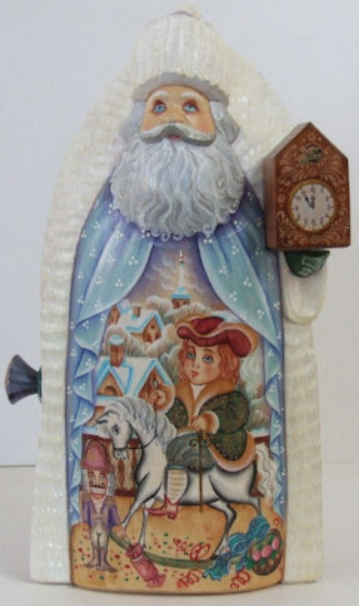 "Handcrafted Father Frost Santa ""Nutcracker Scenes"""