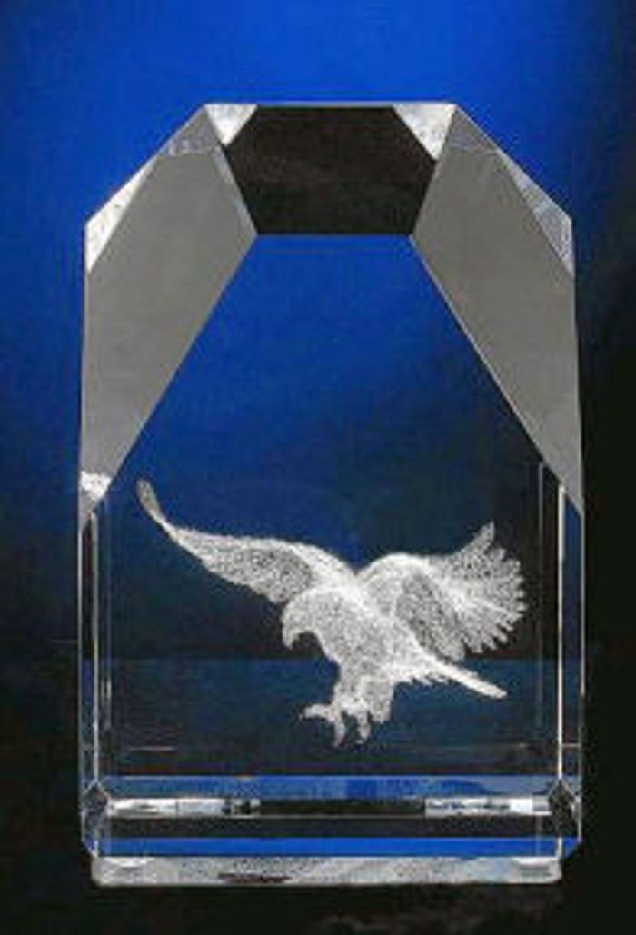 Eagle in Large Mountain Peak Glass