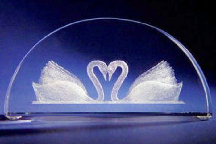 Swans in glass
