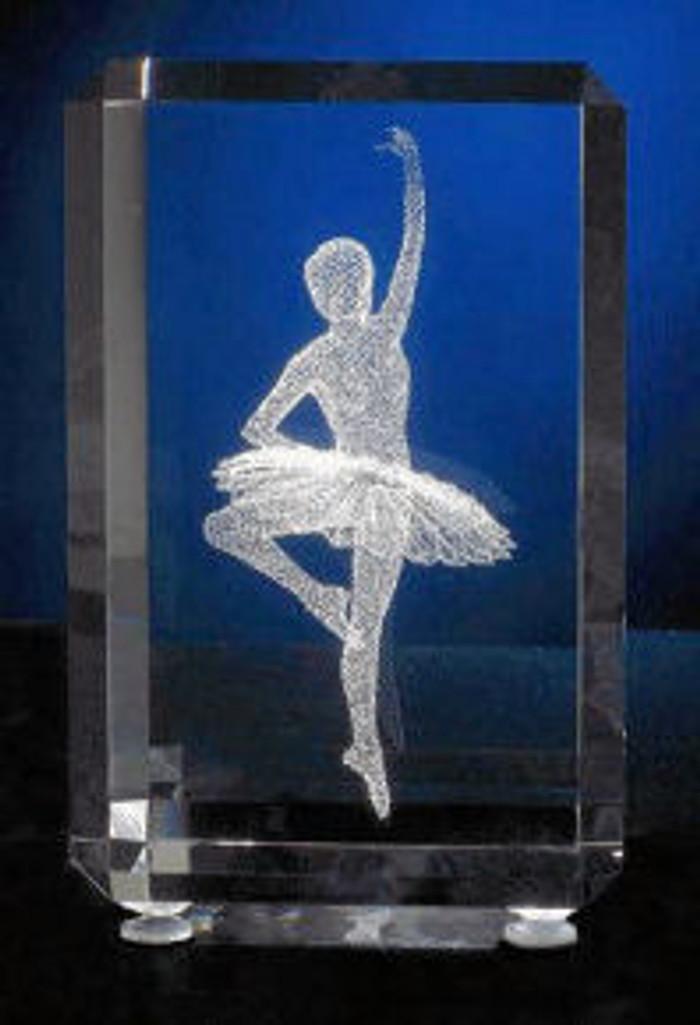 A Ballet Dancer in glass