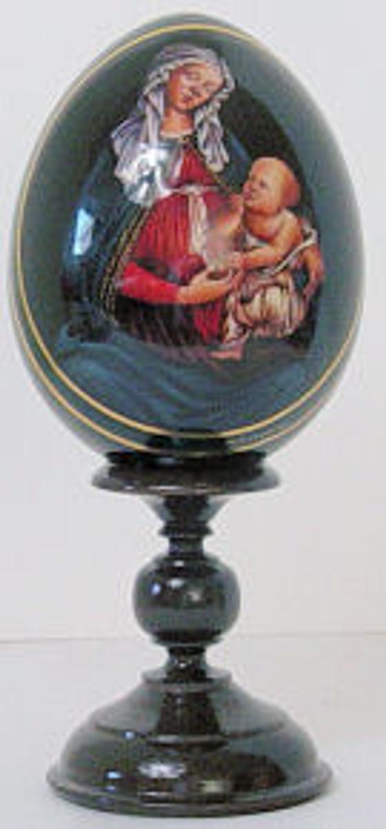 Religous egg of Maddona and child #2