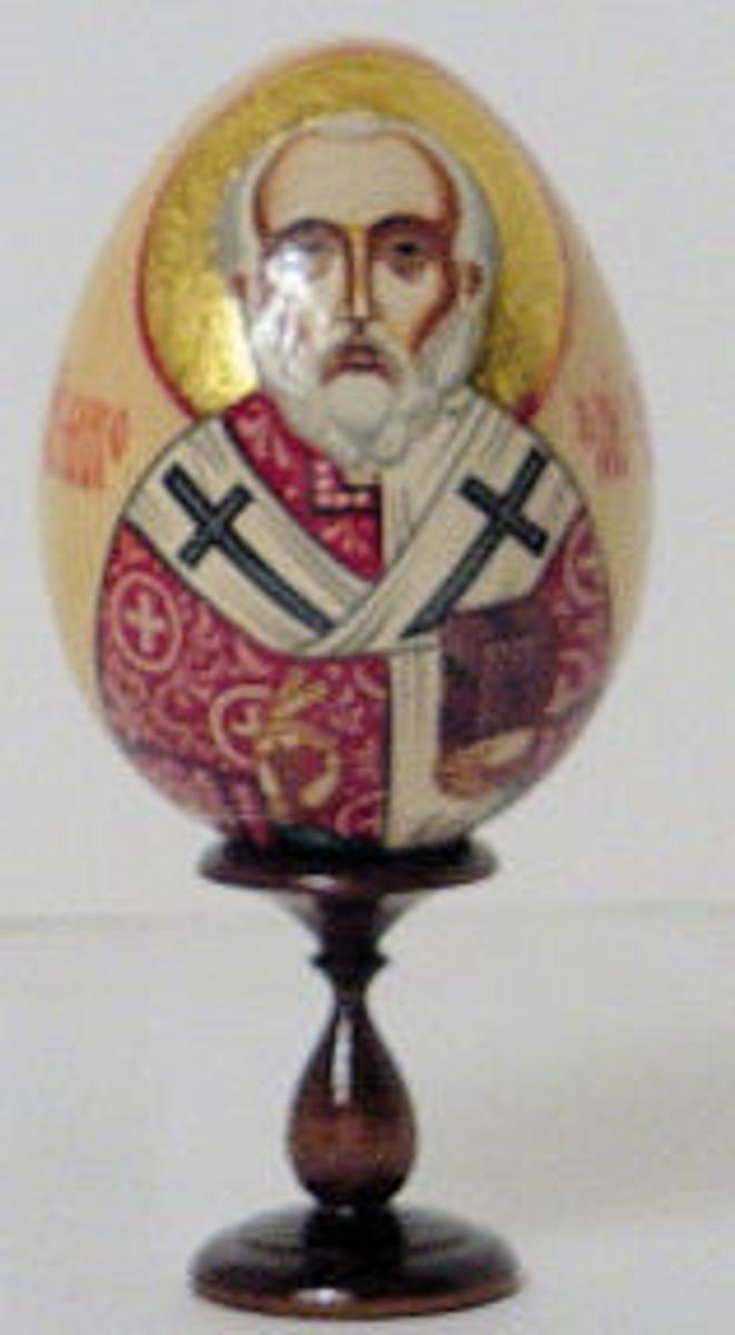Religous egg of St George