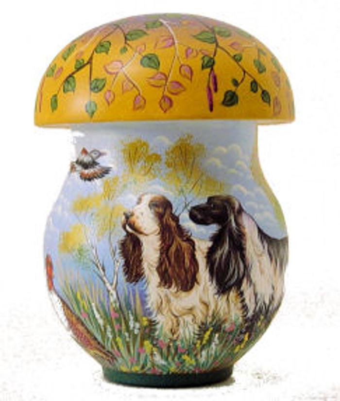 Mushroom with Hunting Dogs