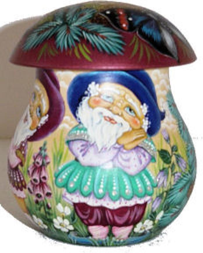 Mushroom of Gnomes in the Forrest by Basonova