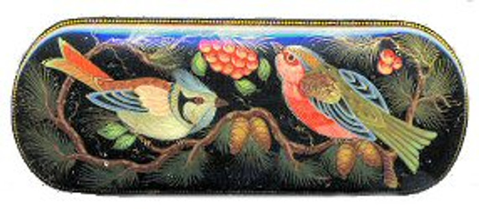 """Two Birds and Berries"" lacquer box"