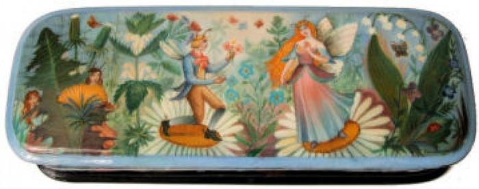 """The Colorful World of Fairies"" by Yelena Khomutinnikova of Fedoskino"