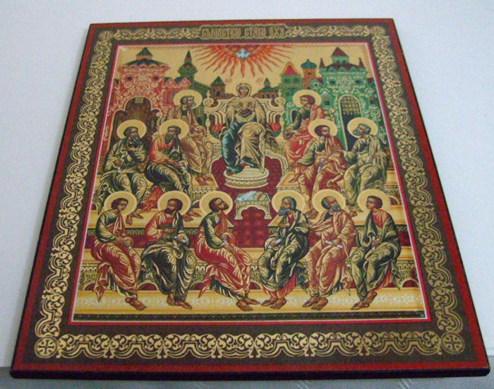 Russian Handmade Icon Our lady the joy for all grieving