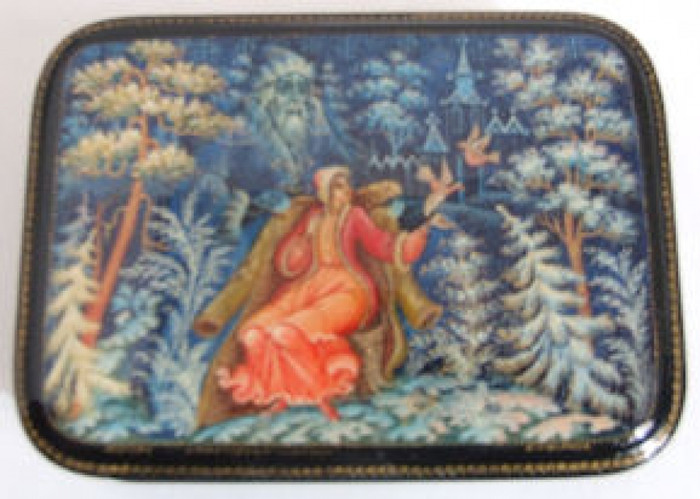 "Mystera Russian Lacquer Box ""Twelve Months"" by Strunina"