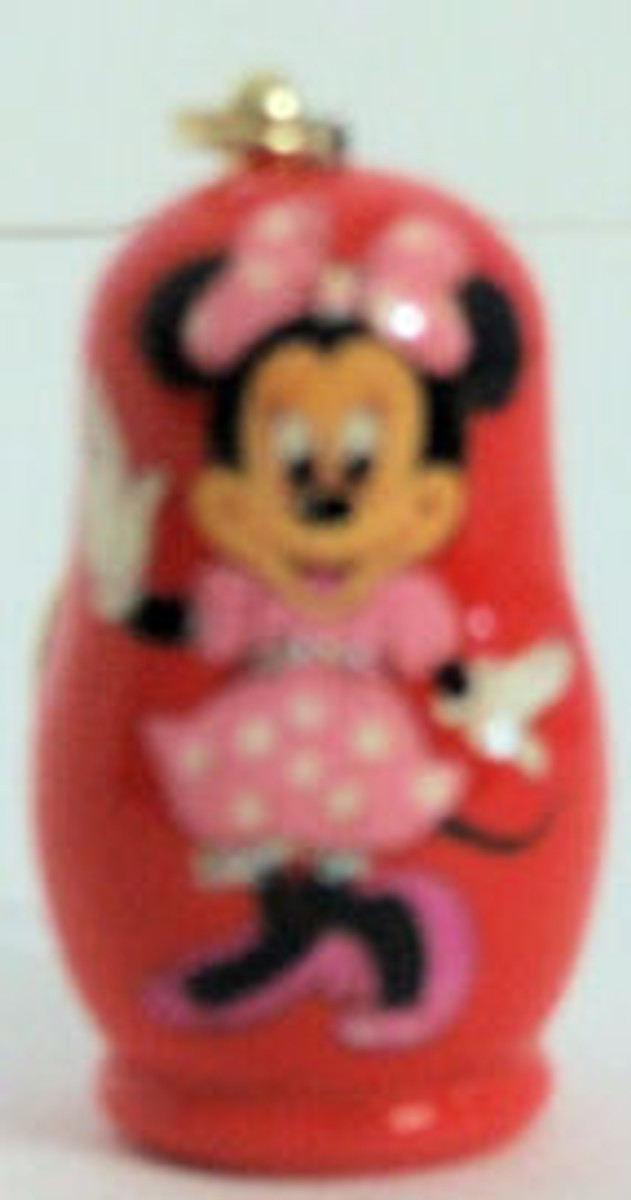Handpainted Minnie Mouse Keychain