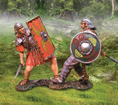 Celt Attacking Roman- Hand Painted Metal Toy Soldiers