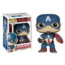 Funko Avengers Age of Ultron Captain America Pop! Vinyl Bobble Head Figure