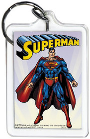"DC Comics Superman Standing 3"" x 2"" Officially Licensed Lucite Double Sided Keyc"