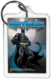 "DC Comics Batman Standing 3"" x 2"" Officially Licensed Lucite Double Sided Keycha"